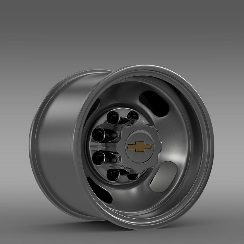 chevrolet silverado 3500hd 2008 rear rim 3d model 3ds max fbx c4d lwo ma mb hrc xsi obj 143341