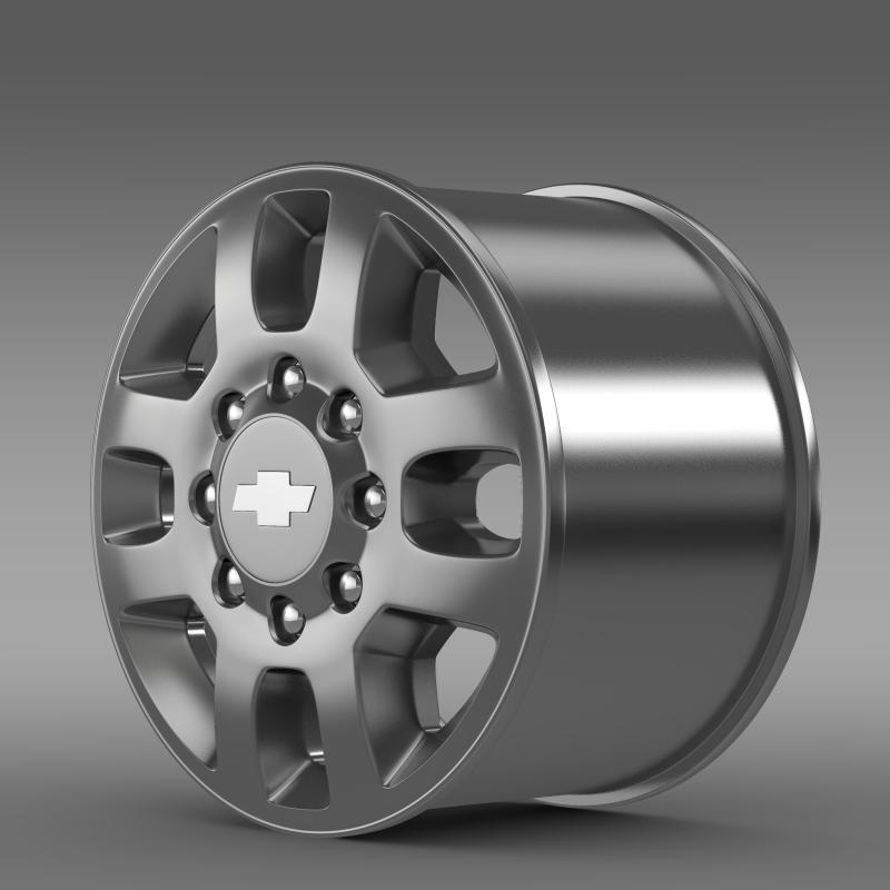 chevrolet silverado 3500hd 2012 rim 3d model 3ds max fbx c4d lwo ma mb hrc xsi obj 143406