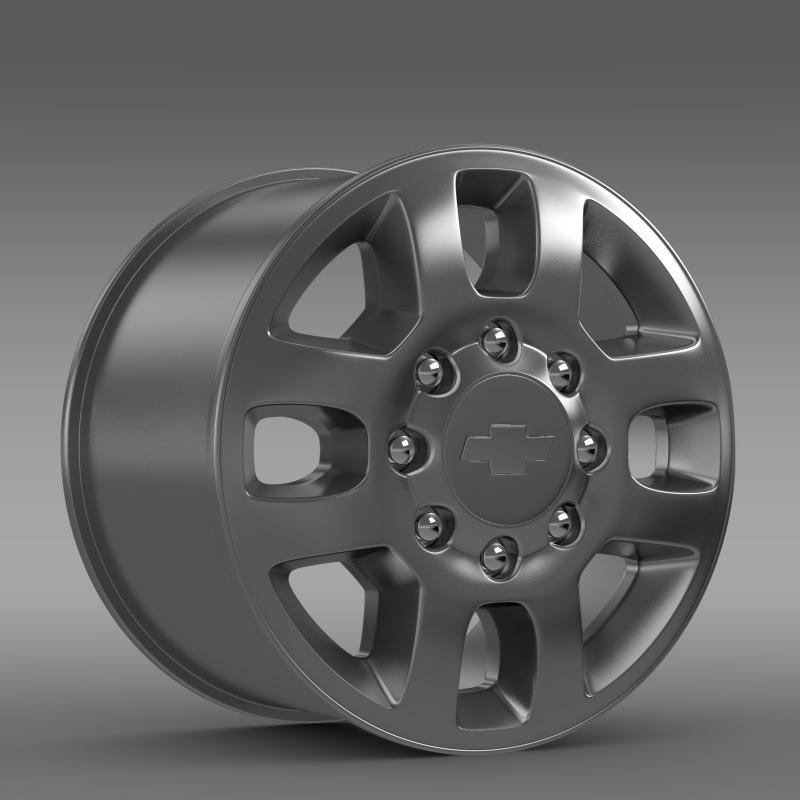 chevrolet silverado 3500hd 2012 rim 3d model 3ds max fbx c4d lwo ma mb hrc xsi obj 143407