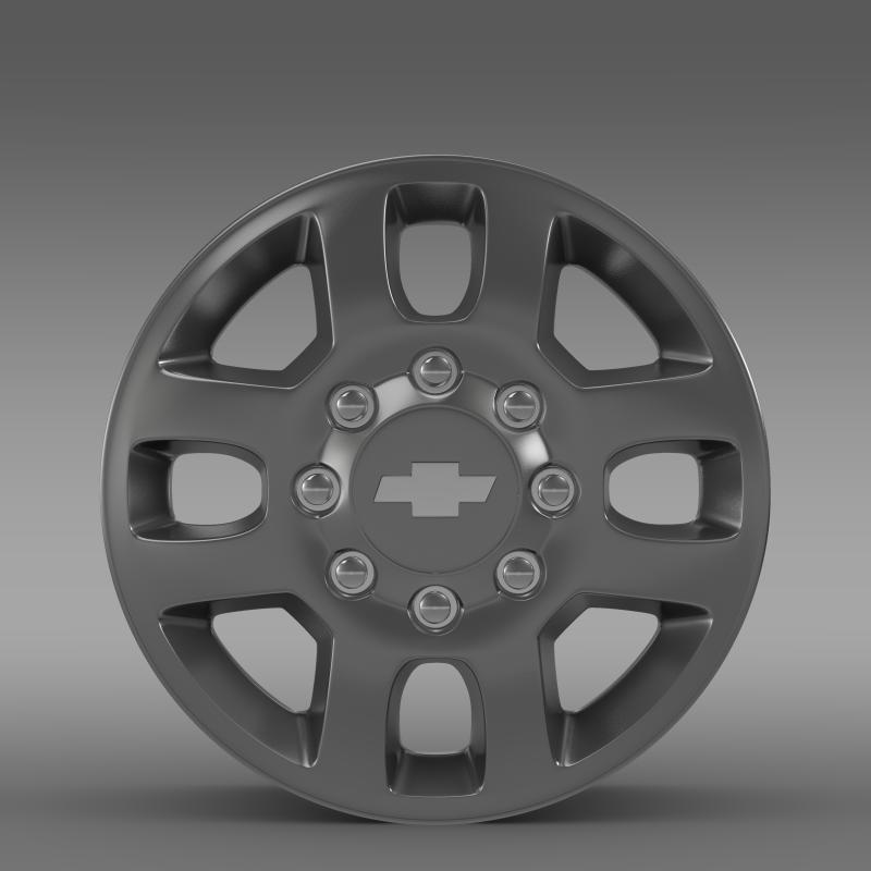 chevrolet silverado 3500hd 2012 rim 3d model 3ds max fbx c4d lwo ma mb hrc xsi obj 143408