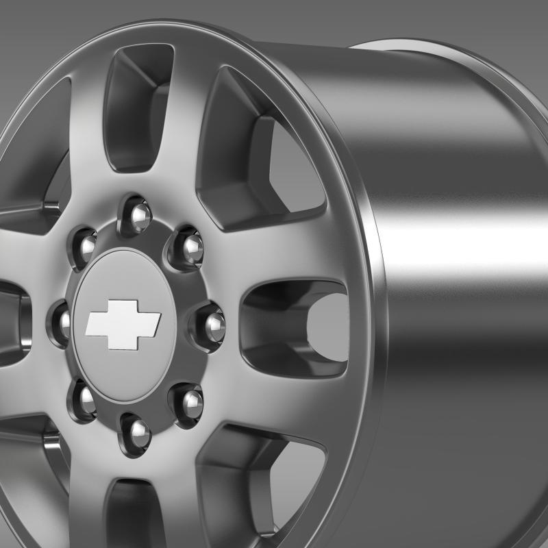 chevrolet silverado 3500hd 2012 rim 3d model 3ds max fbx c4d lwo ma mb hrc xsi obj 143410