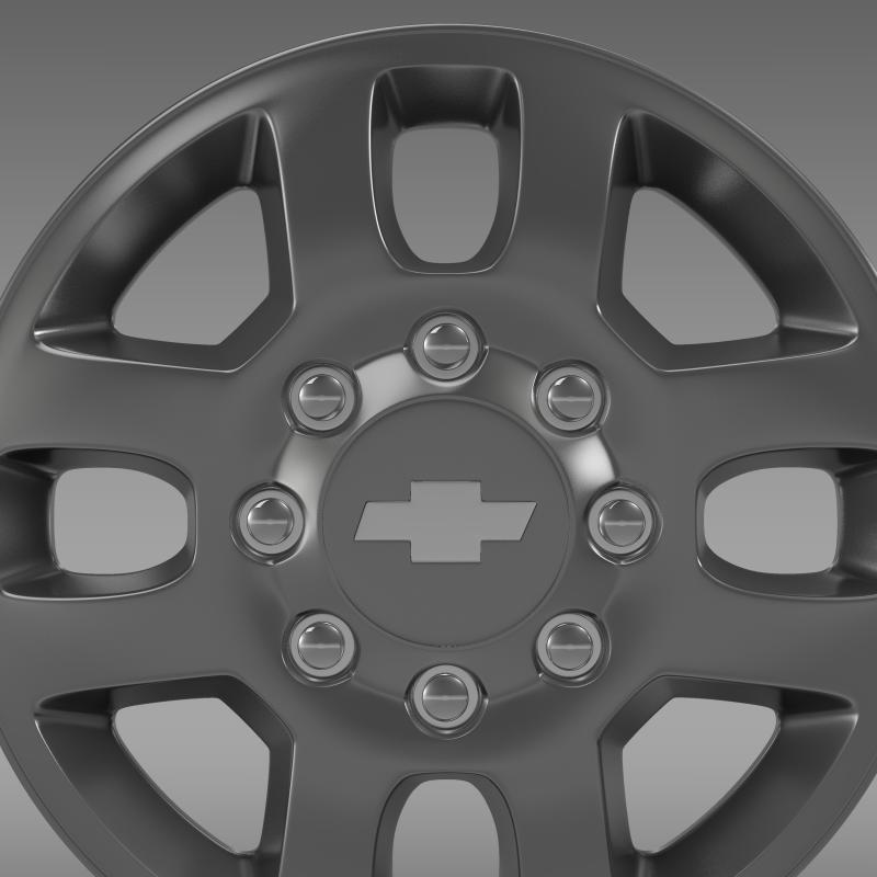 chevrolet silverado 3500hd 2012 rim 3d model 3ds max fbx c4d lwo ma mb hrc xsi obj 143411