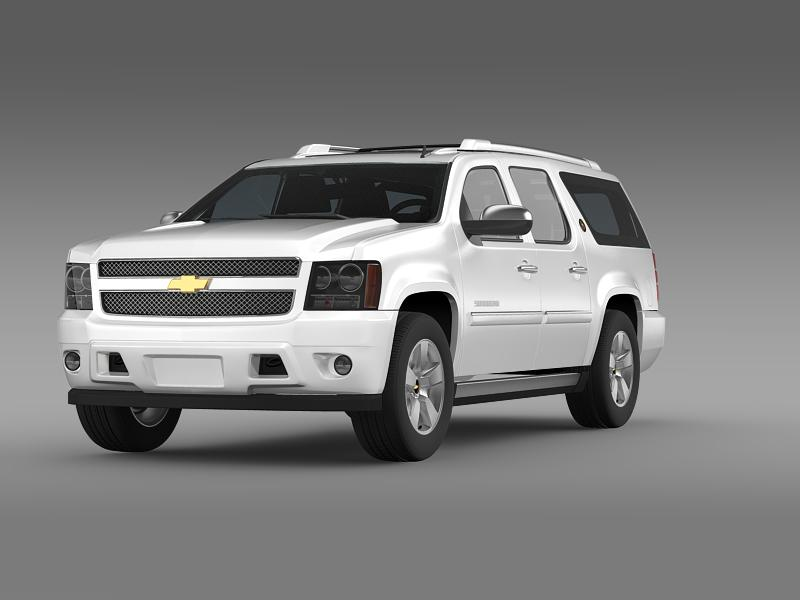 chevrolet suburban 75th diamond izdanje 3d model 3ds max fbx c4d lwo ma mb hrc xsi obj 149115