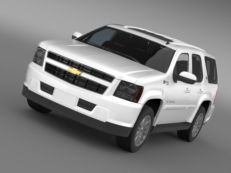 chevrolet tahoe hybrid 2012 3d model 3ds max fbx c4d lwo ma mb hrc xsi obj 149519
