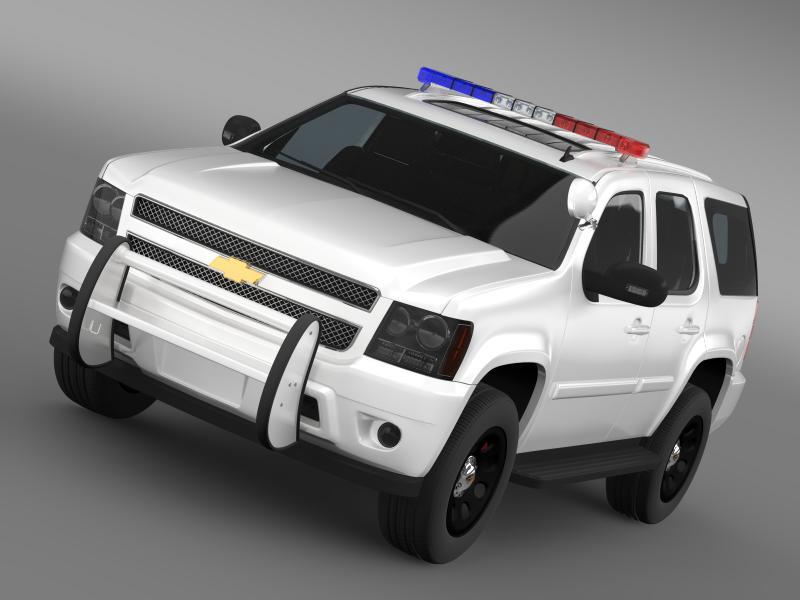 chevrolet tahoe police 3d model 3ds max fbx c4d lwo ma mb hrc xsi obj 159795