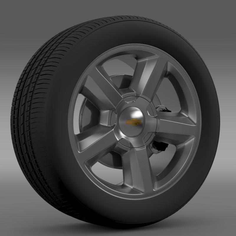 chevrolet_tahoe_2008_wheel 3d model 3ds max fbx c4d lwo ma mb hrc xsi obj 143147