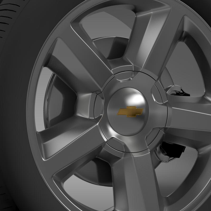 chevrolet_tahoe_2008_wheel 3d model 3ds max fbx c4d lwo ma mb hrc xsi obj 143150