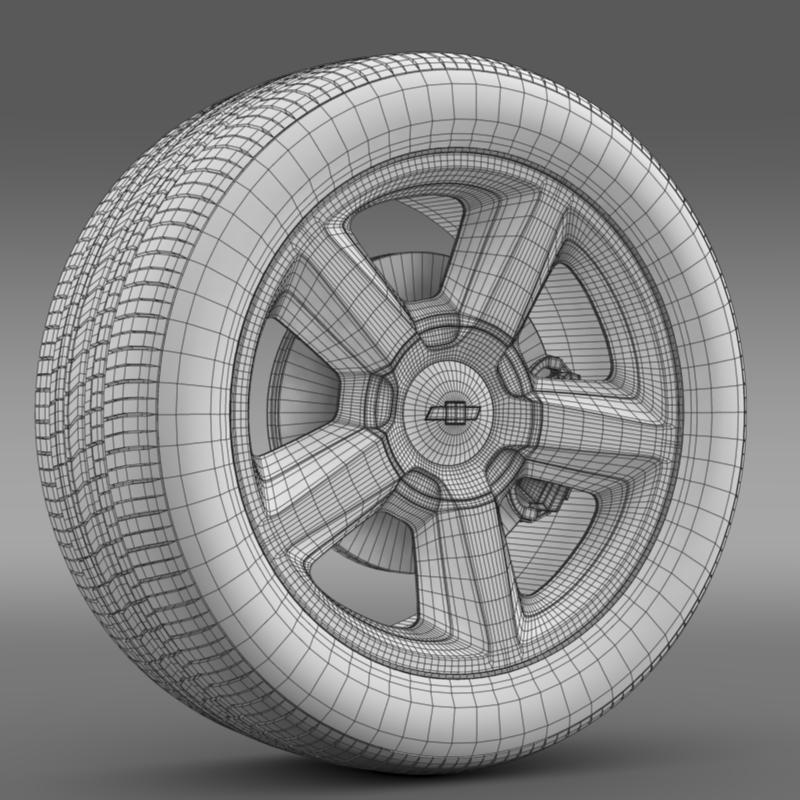 chevrolet_tahoe_2008_wheel 3d model 3ds max fbx c4d lwo ma mb hrc xsi obj 143153