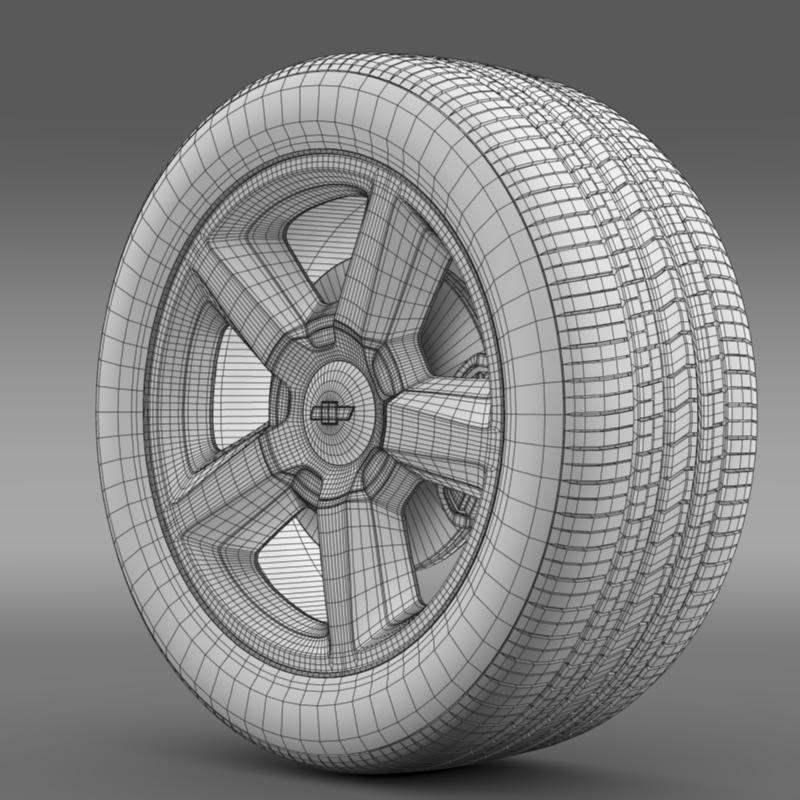 chevrolet_tahoe_2008_wheel 3d model 3ds max fbx c4d lwo ma mb hrc xsi obj 143154