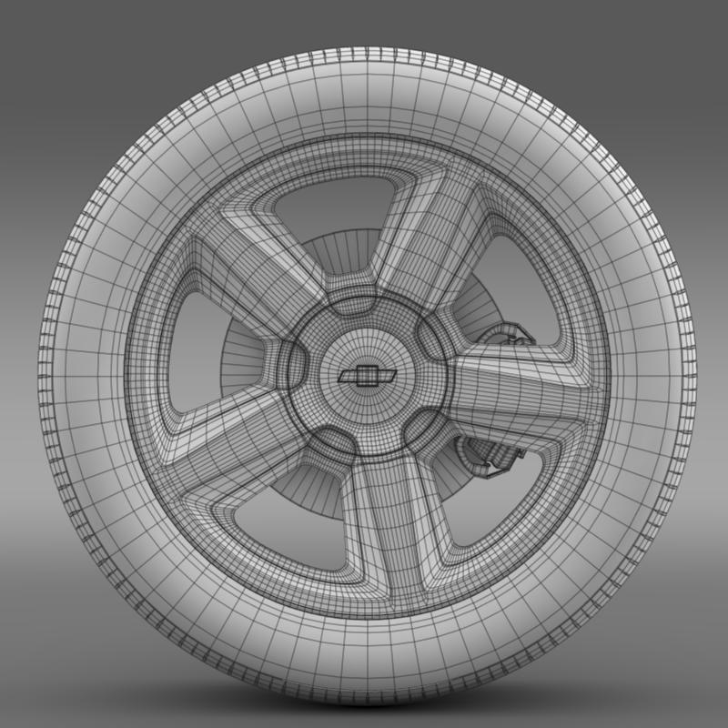 chevrolet_tahoe_2008_wheel 3d model 3ds max fbx c4d lwo ma mb hrc xsi obj 143155