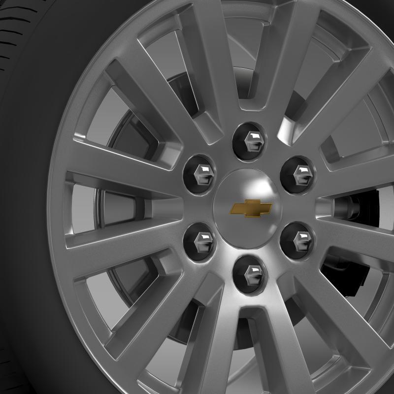 chevrolet_tahoe_hybrid_2012_wheel 3d model 3ds max fbx c4d lwo ma mb hrc xsi obj 143162