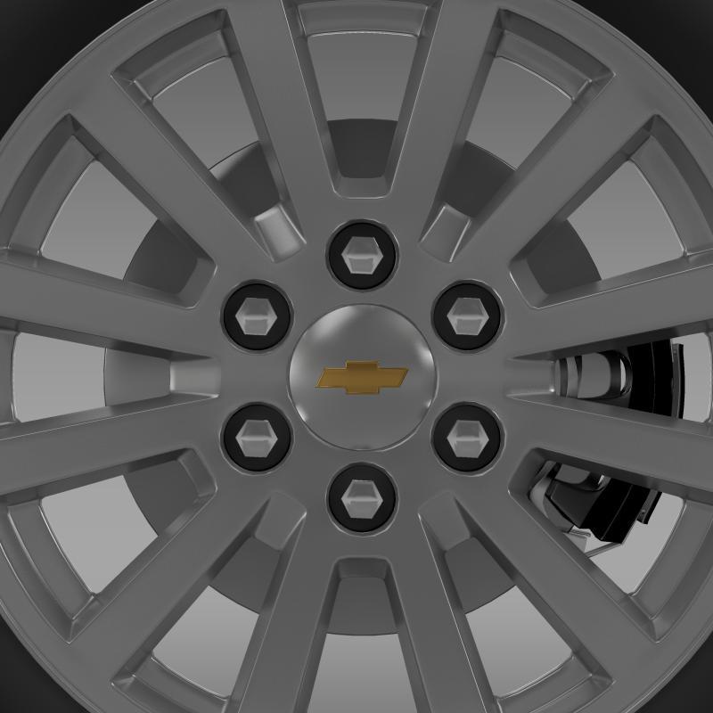 chevrolet_tahoe_hybrid_2012_wheel 3d model 3ds max fbx c4d lwo ma mb hrc xsi obj 143164