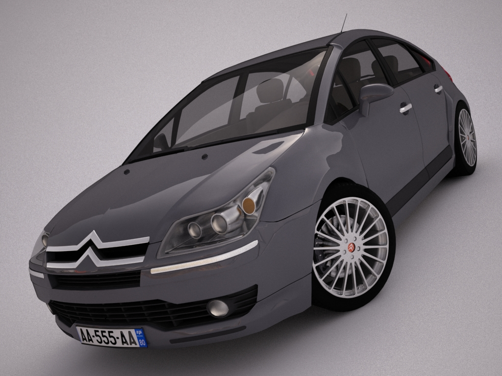 citroen c4 3d model 3ds max dxf other texture obj 119970