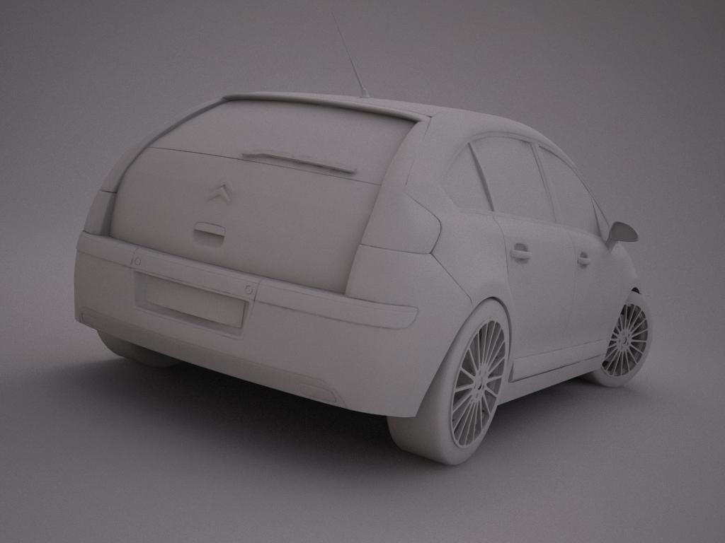 citroen c4 3d modell 3ds max dxf egyéb textúra objektum 119974