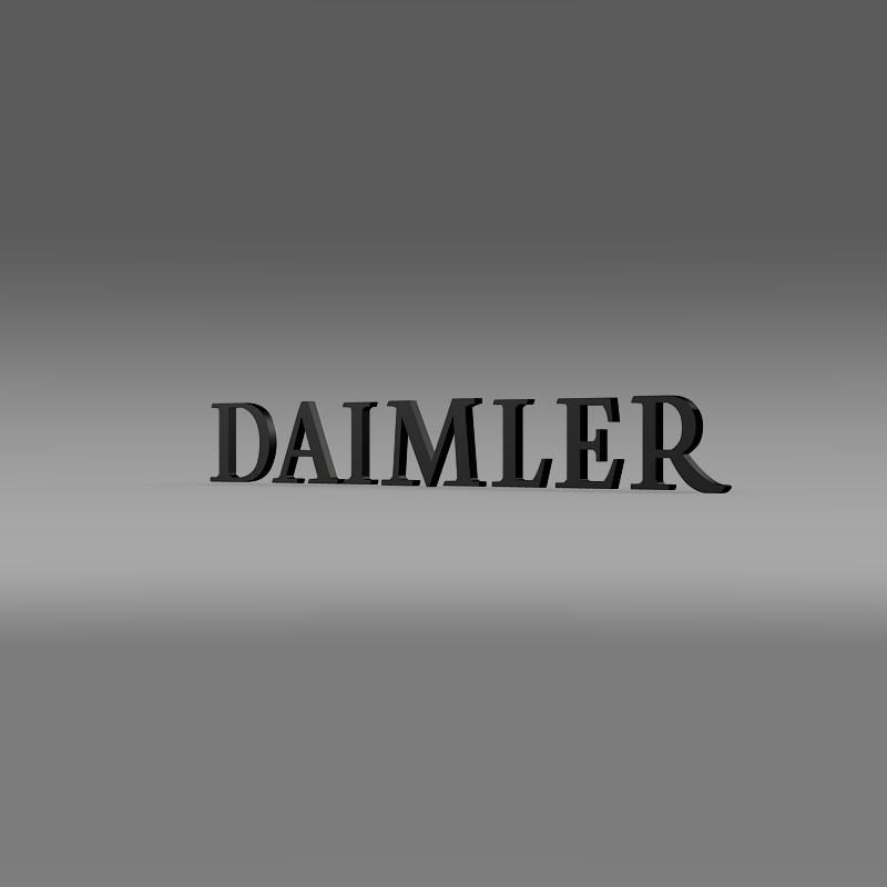 daimler logo 3d model 3ds max fbx c4d lwo ma mb hrc xsi obj 149419