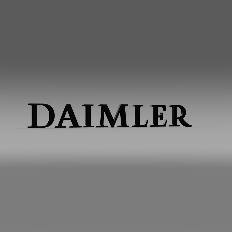 daimler logo 3d model 3ds max fbx c4d lwo ma mb hrc xsi obj 149421