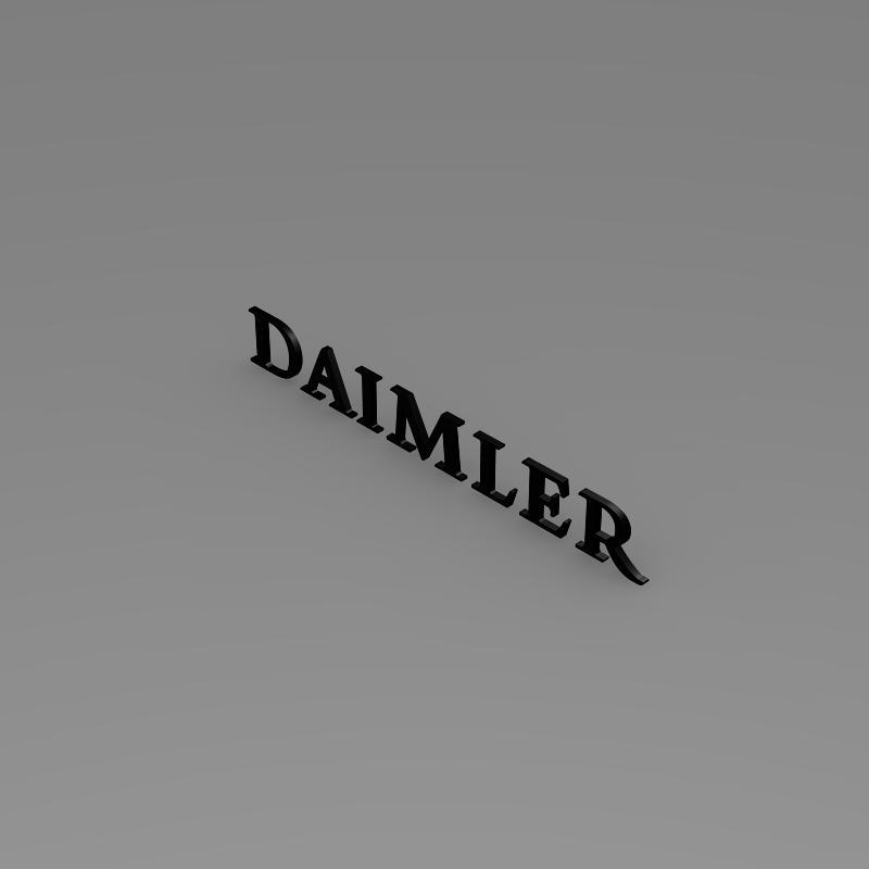 daimler logo 3d model 3ds max fbx c4d lwo ma mb hrc xsi obj 149422