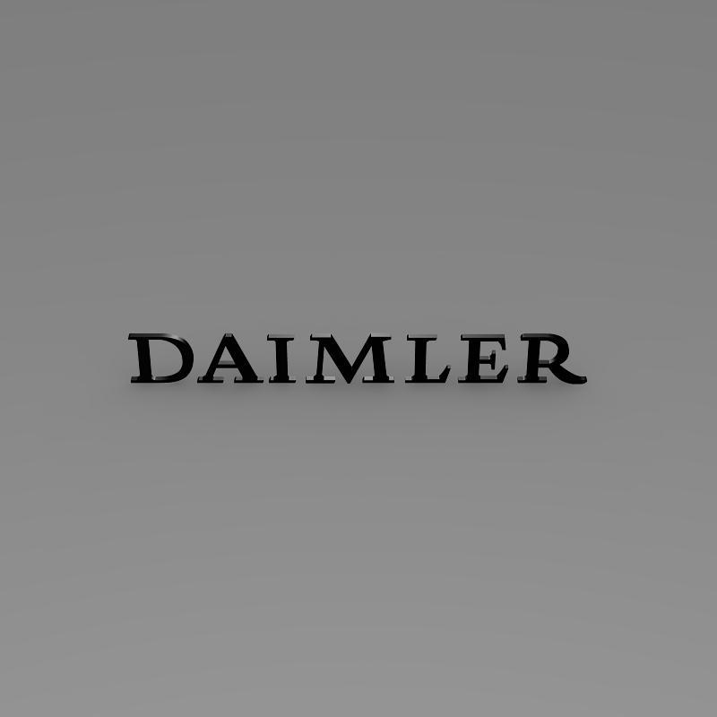 daimler logo 3d model 3ds max fbx c4d lwo ma mb hrc xsi obj 149423