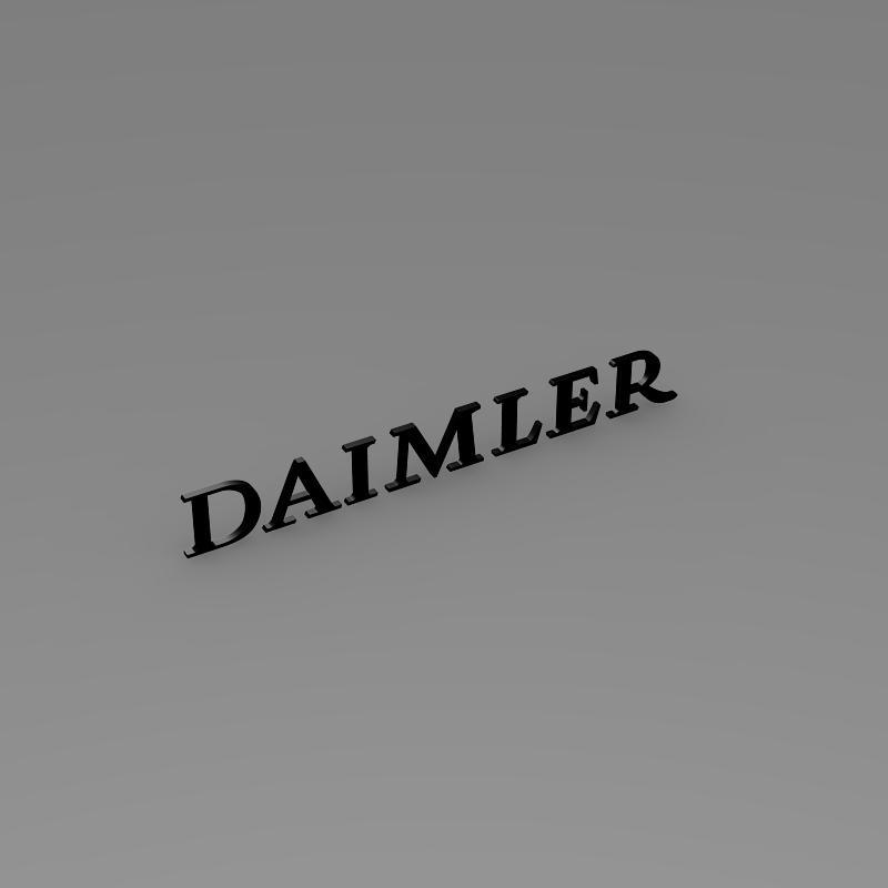 daimler logo 3d model 3ds max fbx c4d lwo ma mb hrc xsi obj 149424