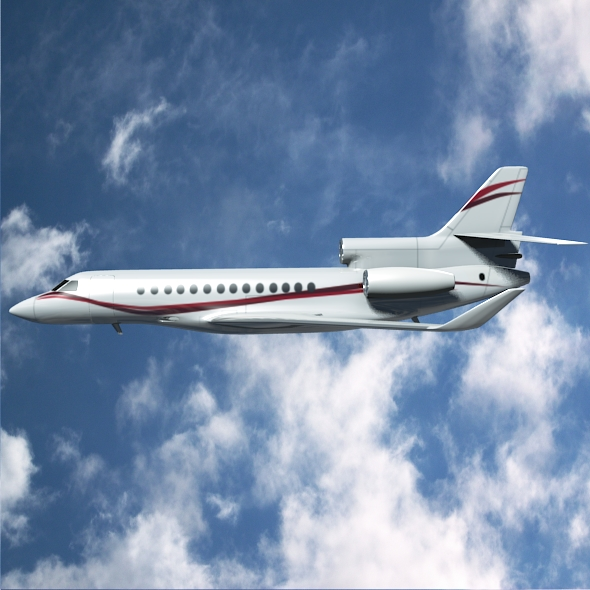 dassault falcon 7x private business jet 3d model 3ds fbx blend dae lwo obj 162964
