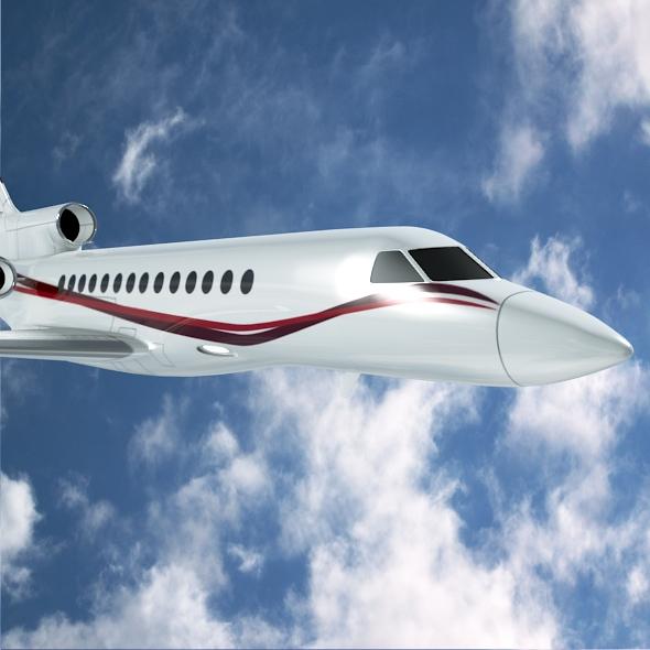 dassault falcon 7x private business jet 3d model 3ds fbx blend dae lwo obj 162965