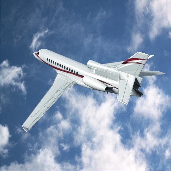 dassault falcon 7x private business jet 3d model 3ds fbx blend dae lwo obj 162966