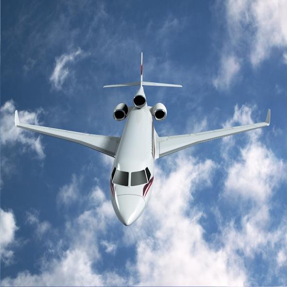 dassault falcon 7x private business jet 3d model 3ds fbx blend dae lwo obj 162967