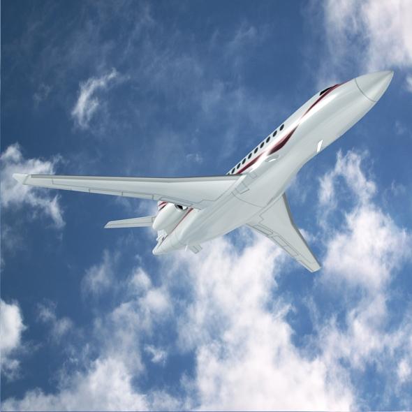 dassault falcon 7x private business jet 3d model 3ds fbx blend dae lwo obj 162969
