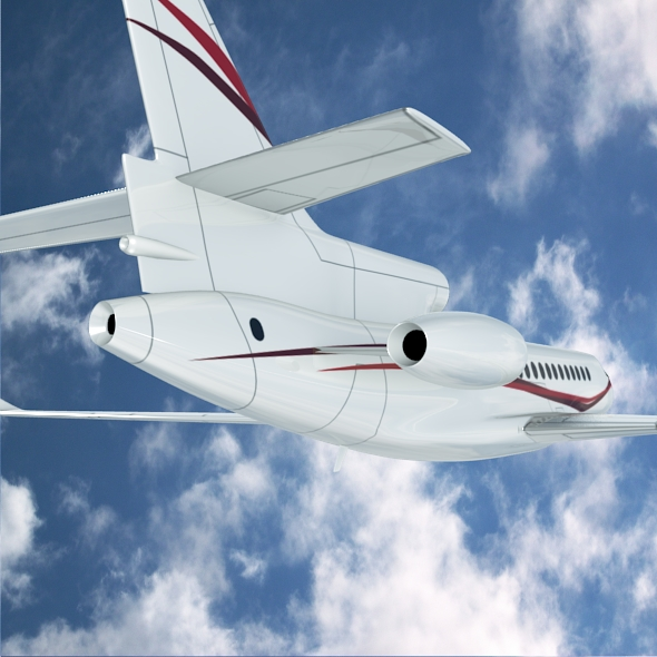dassault falcon 7x private business jet 3d model 3ds fbx blend dae lwo obj 162970