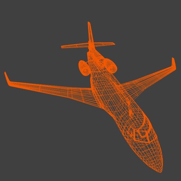 dassault falcon 7x private business jet 3d model 3ds fbx blend dae lwo obj 162972