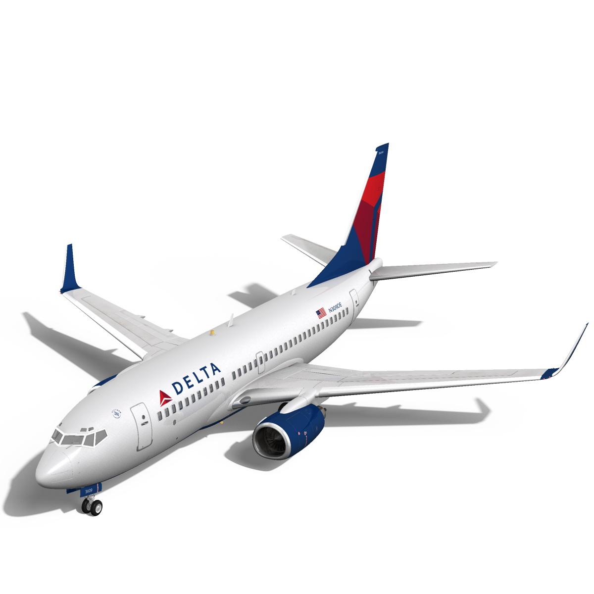 delta havayolları boeing 737-700w 3d model max fbx c4d ma mb obj 120306
