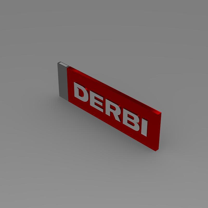 derbi 3d logo 3d model 3ds max fbx c4d lwo ma mb hrc xsi obj 150244