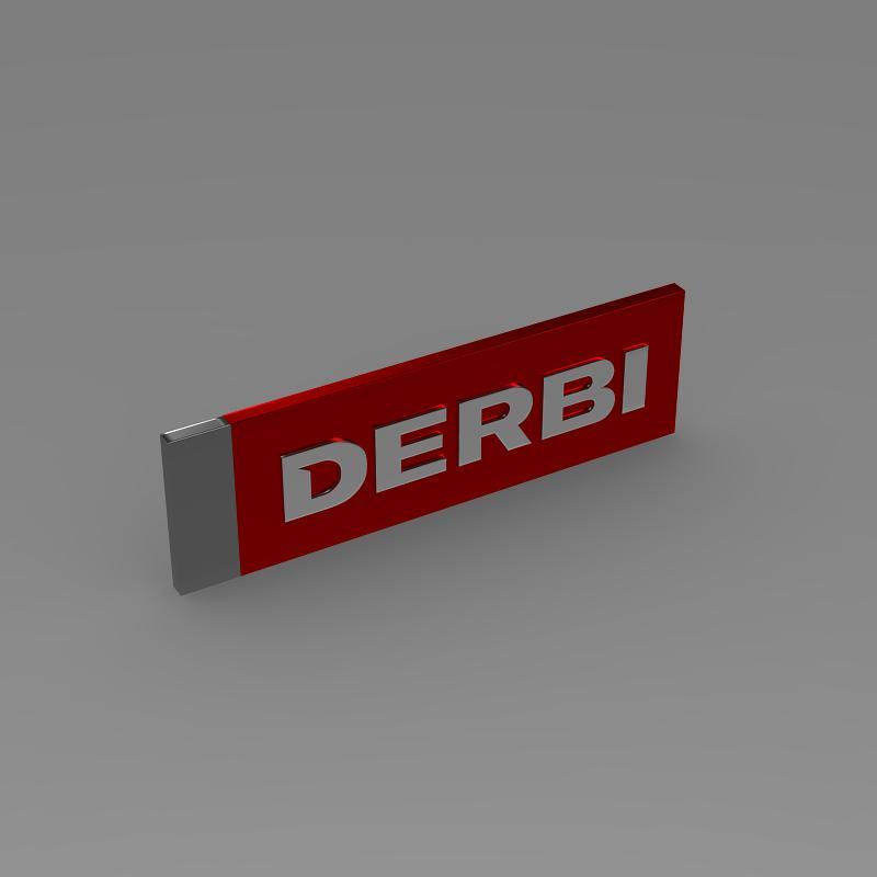 derbi 3d logo 3d model 3ds max fbx c4d lwo ma mb hrc xsi obj 150248