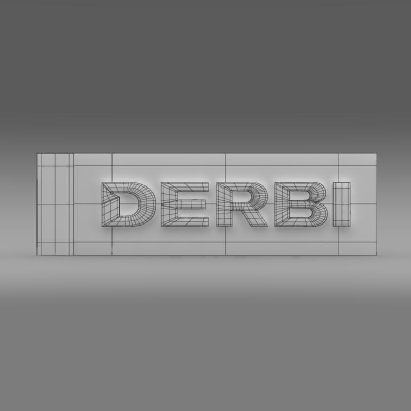 derbi 3d logo 3d model 3ds max fbx c4d lwo ma mb hrc xsi obj 150250