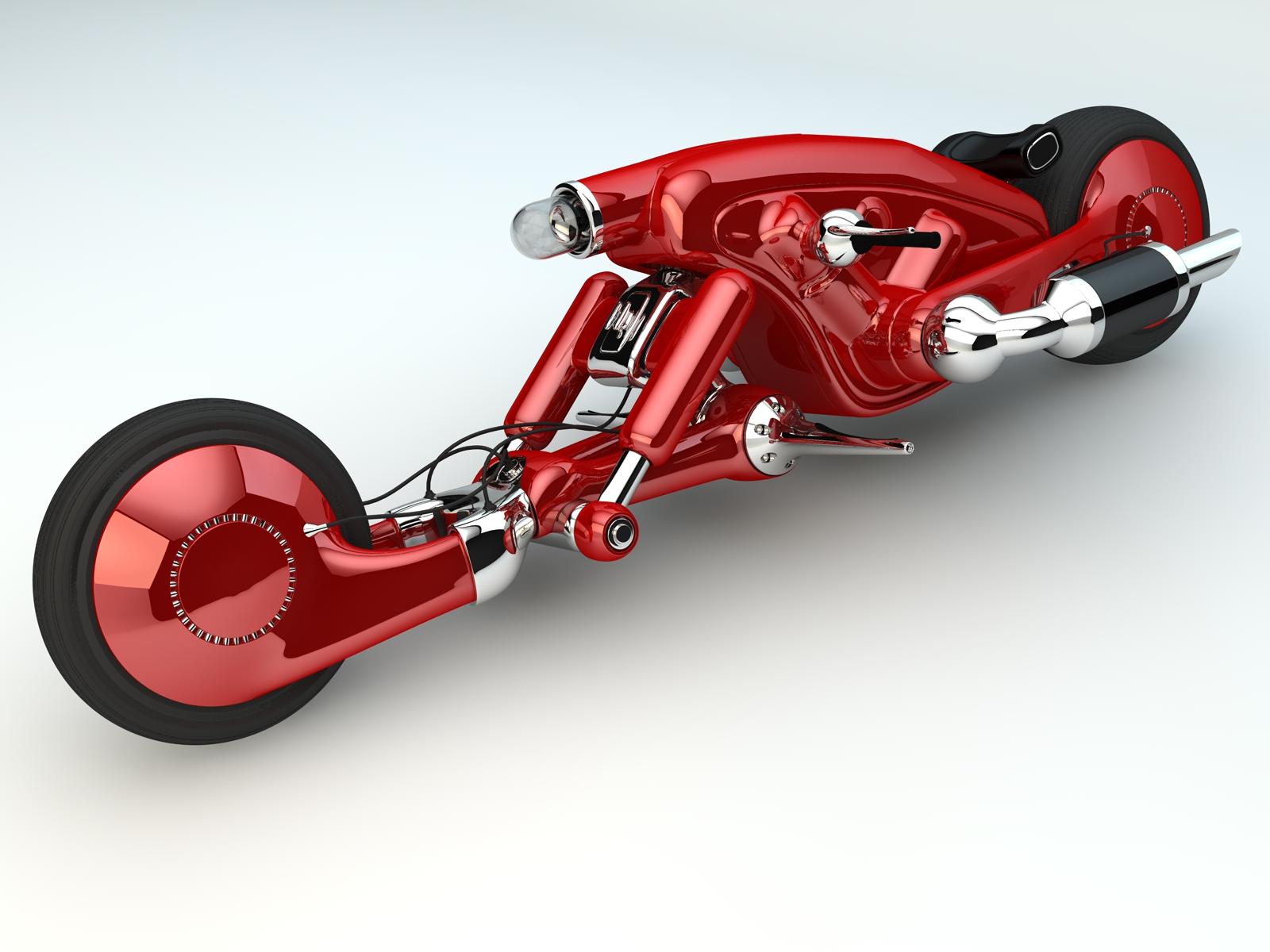 detonator bike 3d model c4d 155054