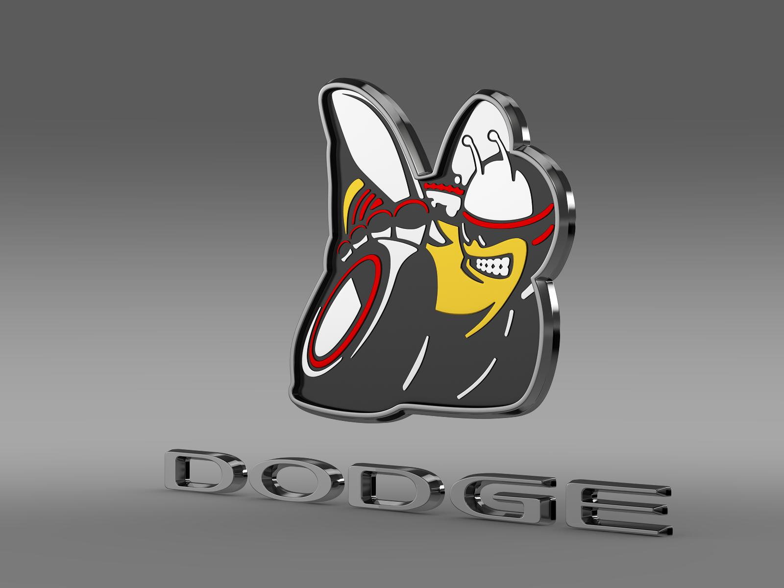 dodge bee logo 3d model 3ds max fbx c4d lwo ma mb hrc xsi obj 162821