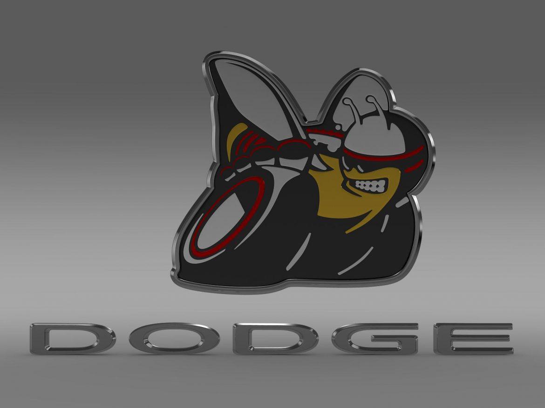 dodge bee logo 3d model 3ds max fbx c4d lwo ma mb hrc xsi obj 162822