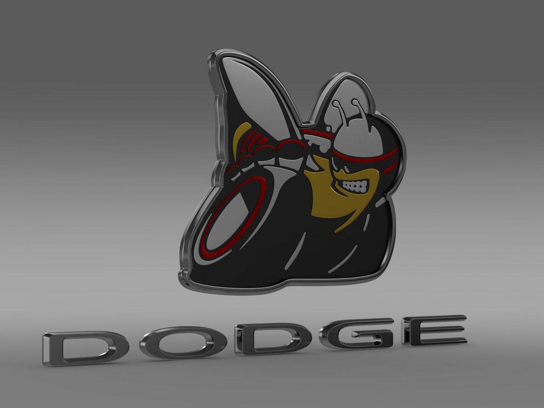 dodge bee logo 3d model 3ds max fbx c4d lwo ma mb hrc xsi obj 162823