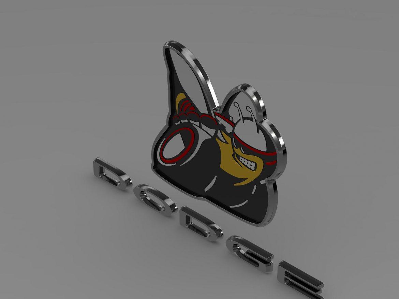 dodge bee logo 3d model 3ds max fbx c4d lwo ma mb hrc xsi obj 162824