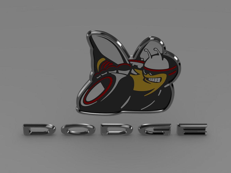 dodge bee logo 3d model 3ds max fbx c4d lwo ma mb hrc xsi obj 162825