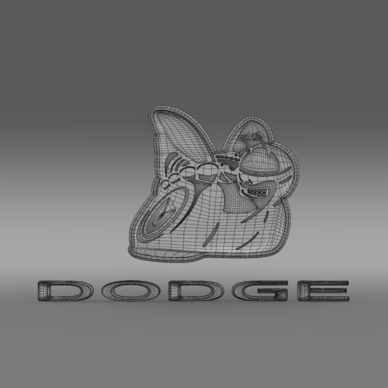 dodge bee logo 3d model 3ds max fbx c4d lwo ma mb hrc xsi obj 162827