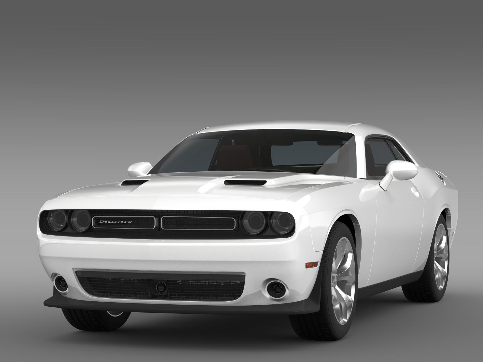 dodge challenger sxt lc 2015 3d model flatpyramid. Black Bedroom Furniture Sets. Home Design Ideas