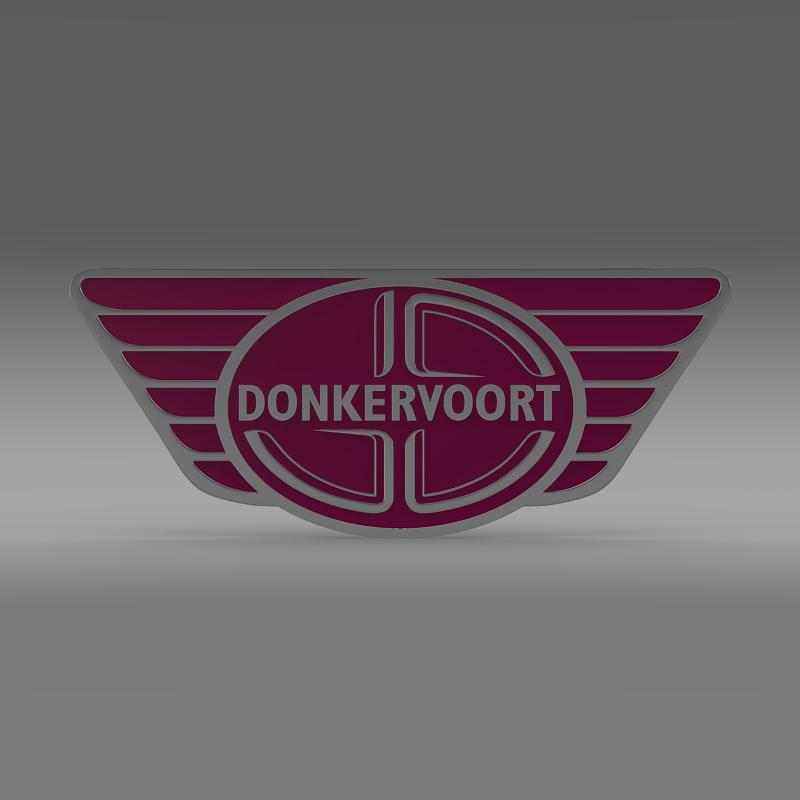 donkervoort logo 3d model 3ds max fbx c4d lwo ma mb hrc xsi obj 149450