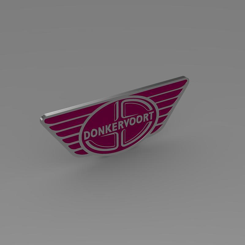 donkervoort logo 3d model 3ds max fbx c4d lwo ma mb hrc xsi obj 149454