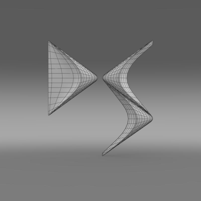 ds logo 3d model 3ds max fbx c4d lwo ma mb hrc xsi obj 162834