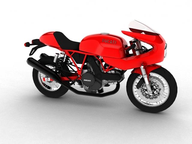 ducati 1000s 2009 3d model 3ds max c4d obj 149328