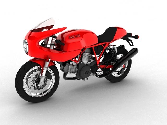 ducati 1000s 2009 3d model 3ds max c4d obj 149329