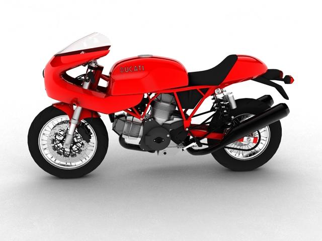 ducati 1000s 2009 3d model 3ds max c4d obj 149330
