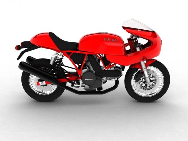 ducati 1000s 2009 3d model 3ds max c4d obj 149334