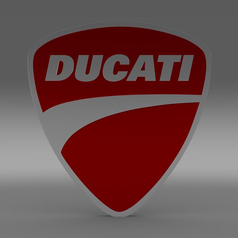 ducati 3d logo 3d model 3ds max fbx c4d lwo ma mb hrc xsi obj 150259